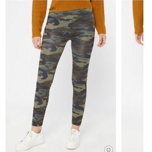 Camo Print Fleece Leggings